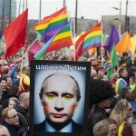 This protest in Amsterdam against Vladimir Putin represents widespread outrage across Europe.