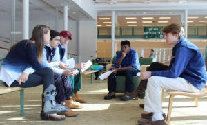 Students discuss and define privilege at the Deerfield Norms Workshop. Photo Credit: Emmy Latham