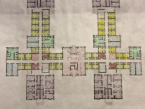 The floor plan for the new Johson-Doubleday shown at school meeting.  Credit: Maddie Blake