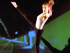 Habel dancing in the fall 2015 showcase.  Credit: Sami Habel