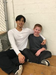 Credit: Patrick Han Han and his Little, Logan, spending a Friday night in the hockey rink