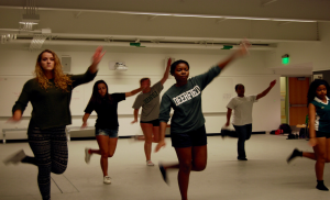 Step Team diligently rehearses their repertoire in the acting lab. Credit: Roopa Venkatraman