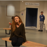 """Expressing the turbulent emotions of her character in the play """"Museum"""", Kaycie Sweeney`17 shows off her expertise and dedication to bringing her role to life. Credit: Olivia Jones"""