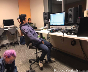Tai Thongthai `17 frequents the recording studio to create original compositions and hone his singing skills. Credit: Roopa Venkatraman
